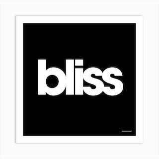 Bliss Black Square Art Print