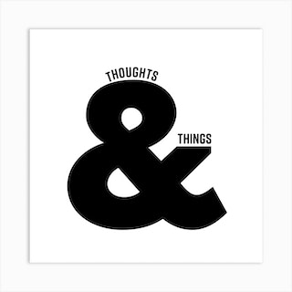 Thoughts And Things  Square Art Print