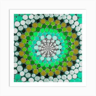 Warm Green Square Art Print