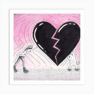 Heart Reconstruction Square Art Print
