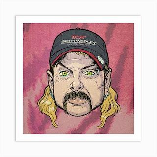 Joe Exotic The Tiger King Square Art Print
