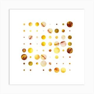 Codigo Yellow Brown Square Art Print