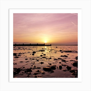 Whitstable Sunset Art Print