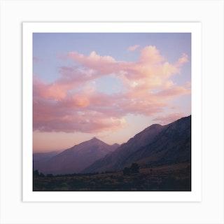 Pink Skies Square Art Print