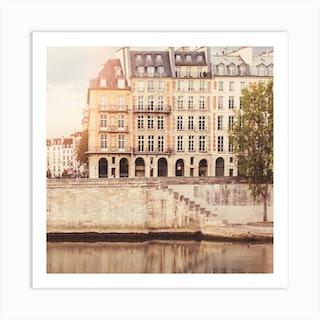 Paris Seine Square Art Print