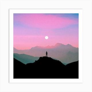 Purple Mountain Square Art Print