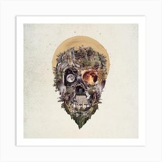 Skull Castle 4 Square Art Print