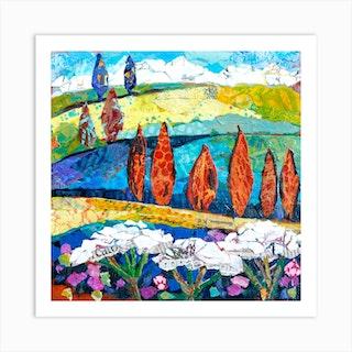 Landscape Memories Of Tuscany Square Art Print