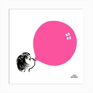 Bubblegum Square Art Print
