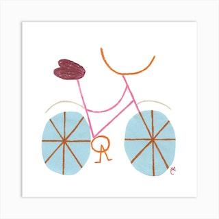 Bike 3 Square Art Print