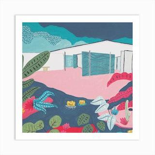 Mies Van Der Rohe Barcelona Pavillon  Square Art Print