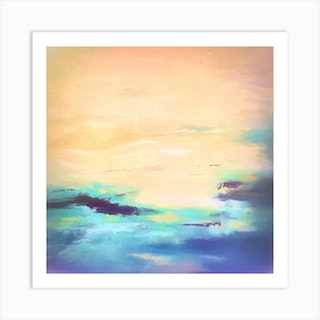 Parting Clouds Square Art Print