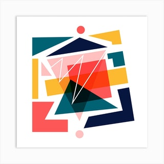 Finding Balance Square Art Print
