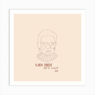 Rbg When There Are Ninesquare Art Print