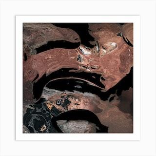 Black Desert Waters Art Print