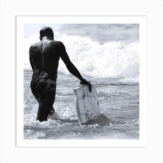 Surfs Up Square Art Print