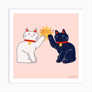 Cat Power Square Art Print
