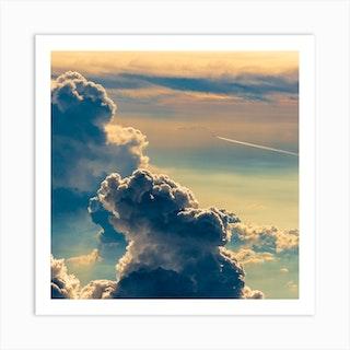 Cloud Flight Square Art Print