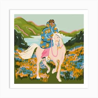 Horse Square Art Print