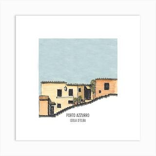 Porto Azzurro Square Art Print