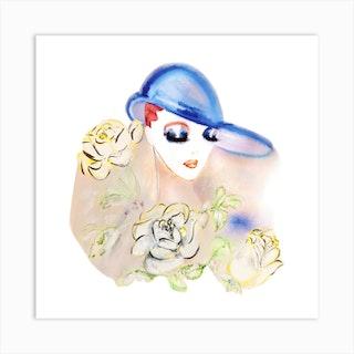 Lady Libra Art Print