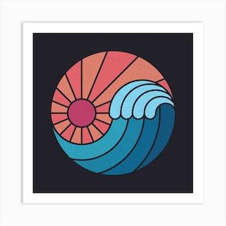Sun And Sea Square Art Print