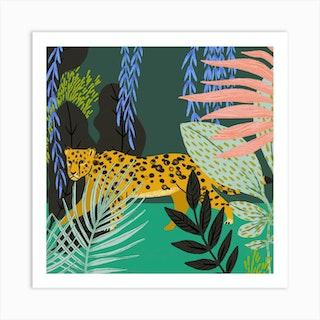 Jungle Square Art Print