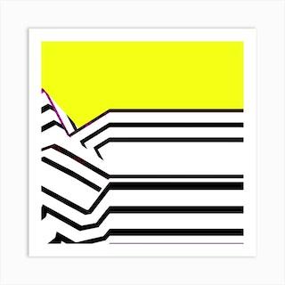 Lemon Streak Square Art Print