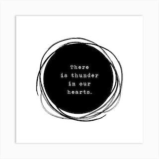 Thunder Heart Square Art Print