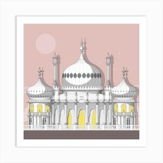Royal Pavilion Pink Art Print