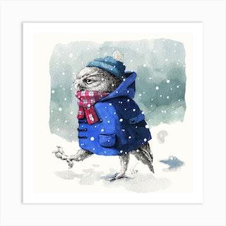 Snowy Day Square Art Print