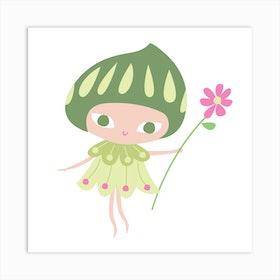 Flower Fairy Ii Art Print