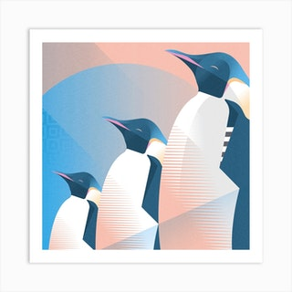 Emperor Penguin Square Art Print