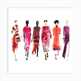 Ny Fashion 3 Square Art Print
