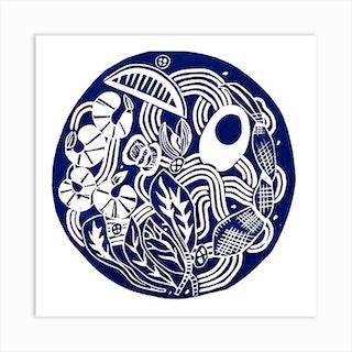 The Ramen Square Art Print