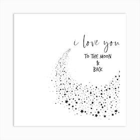Iloveyou Square Art Print