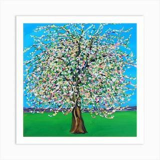 Apple Blossom Square Art Print