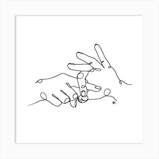 Sign Language Square Art Print