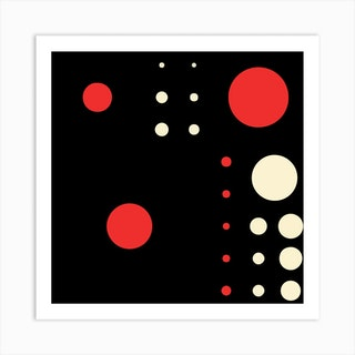 Yayay Dots Red Square Art Print