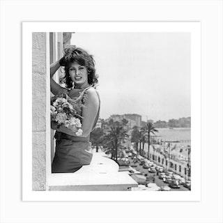 Sophia Loren During Cannes Festival Art Print