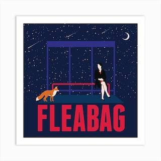 Fleabag Scene Square Art Print