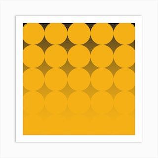 Circling Yellow Square Art Print