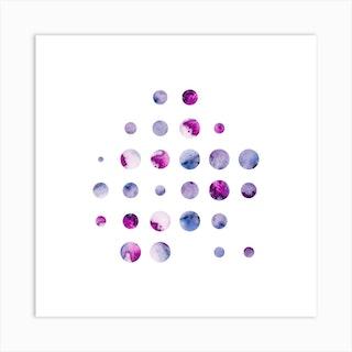 Codigo Purple Pink Square Art Print