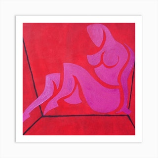 Study For Figure In Cubic Space Art Print