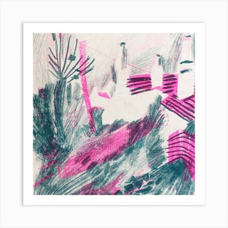 Coastal Village Square Art Print