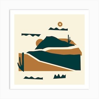 The Flowing Hills Square Art Print