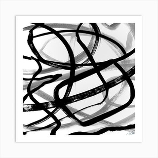 Intertwined Square Art Print