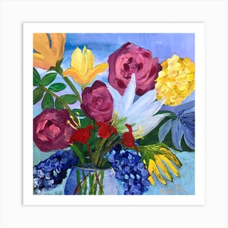 Floral 5 Square Art Print