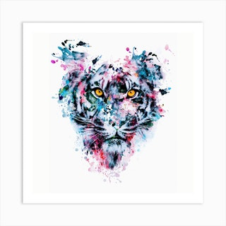 Tiger Square Art Print