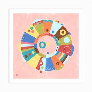 Hello Spring Meditative Mandala Art Print